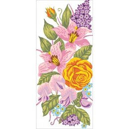 Grafitec Roses and Lillies Tapestry Canvas
