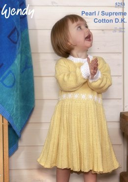 Childrens Dress in Wendy Supreme Cotton DK - 5253