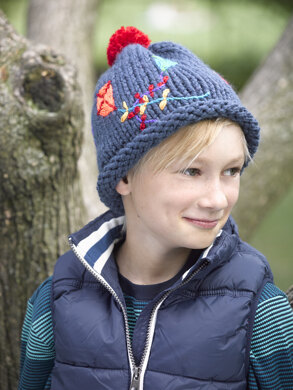 Slouch Hat in Lion Brand Wool-Ease Thick   Quick - L32108D. Free. Free  pattern 94c6b0a3458
