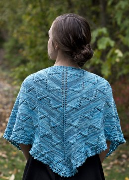 Skylark Shawl in Cascade Yarns Sunseeker Multis - DK375 - Downloadable PDF