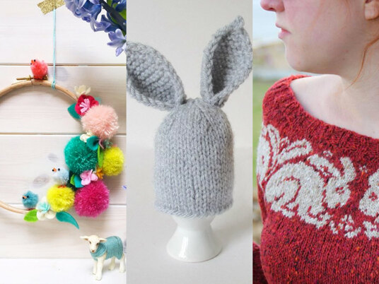 Spring into Easter, with our beautiful selection of Easter knitting patterns!
