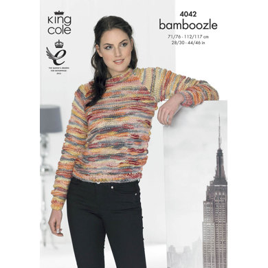 Cardigan and Sweater in King Cole Bamboozle - 4042