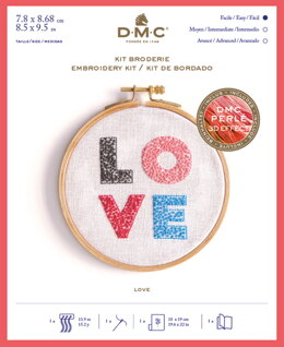 DMC Love Kit - Small Embroidery Kit - 8cm x 9cm  - TB146