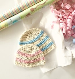 Sweet Stripes Baby Hat