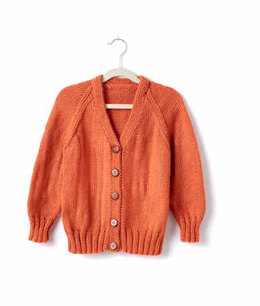 Adult's Knit V-Neck Cardigan in Caron Simply Soft - Downloadable PDF