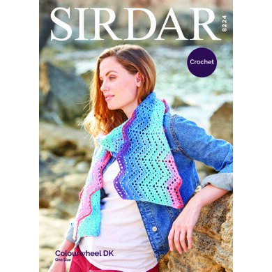 Scarf in Sirdar Colourwheel Dazzle - 8224 - Downloadable PDF