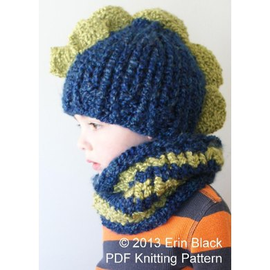 Chunky Dinosaur Hat And Cowl Knitting Pattern By Midknits
