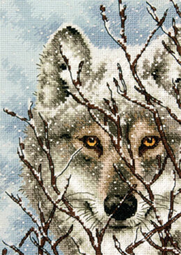 Dimensions Wolf Cross Stitch Kit - 12.5cm x 17.5cm
