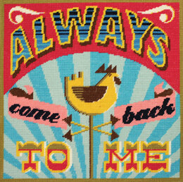 DMC Always Come Back to Me Tapestry Cushion Front Kit -  40 x 40cm