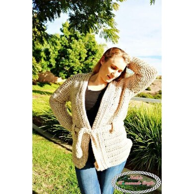 Chunky Belted Crochet Cardigan