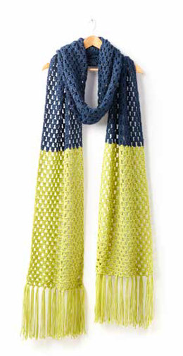 Granny Takes a Dip Crochet Scarf in Caron Simply Soft - Downloadable PDF
