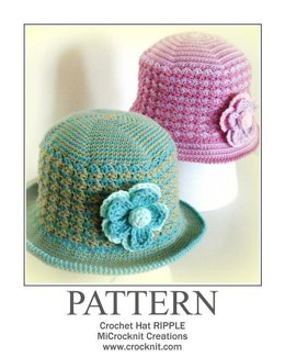 Crochet Hat RIPPLE (USA - American)