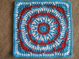 Spiky Circle Afghan Square