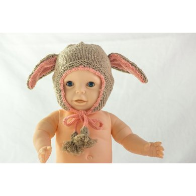 Floppy Ear Bunny Hat With Earflaps And Tassels