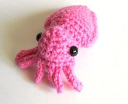 Mini Cuttlefish Amigurumi Plush Toy