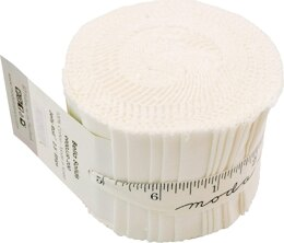 Moda Fabrics Bella Solids Junior Jelly Roll - Off White
