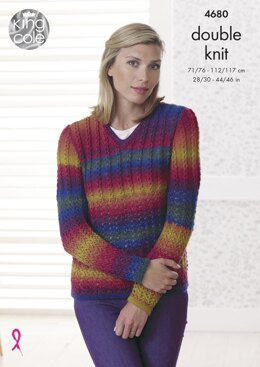 Sweater & Cardigan in King Cole Riot DK - 4680 - Downloadable PDF