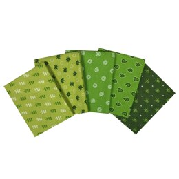 Visage Textiles Essential Trends Fat Quarter Bundle - Lime