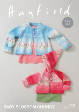 Coats in Hayfield Baby Blossom - 4678 - Downloadable PDF