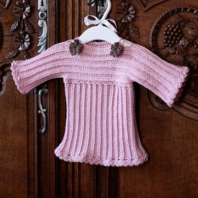 Knit Look Baby Sweater Crochet Pattern By Mon Petit Violon