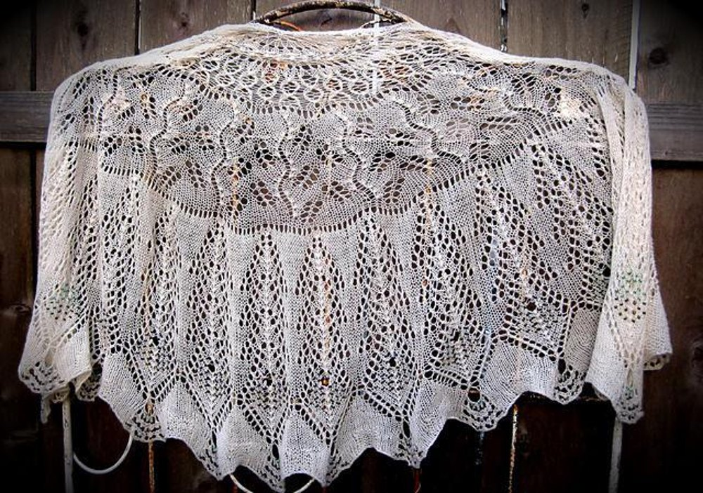 Debra Peacock Tail Shawl Knitting Pattern By Kimberly