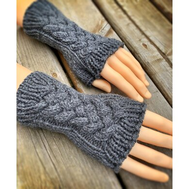 Cable Fingerless Gloves or Mitts
