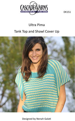 Tank Top and Shawl Cover Up in Cascade Ultra Pima - DK151