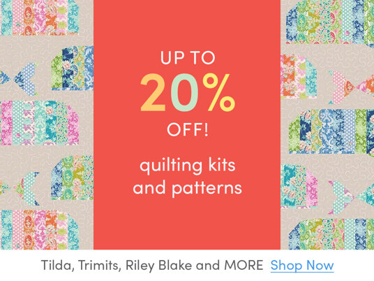 Up to 20 percent off quilting kits and patterns