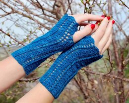 She Walks in Beauty Fingerless Gloves