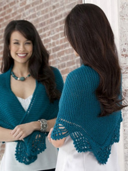 Crochet Shawl in Caron Simply Soft Collection - Downloadable PDF