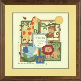 Dimensions Savanah Birth Record Counted Cross Stitch Kit - 12ix12in (30.5x30.5cm)