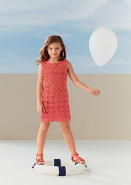 Girl's Dress in Bergere de France Coton Fifty - 42720