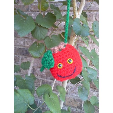 Smiling Apple Necklace Purse