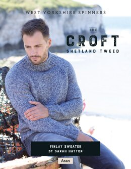 Finlay Sweater in West Yorkshire Spinners The Croft Shetland Tweed - DBP0060 - Downloadable PDF