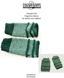 Fingerless Gloves For Adults and Kids in Cascade 220 - W295