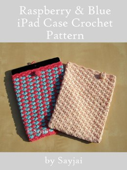 Raspberry & Blue iPad Case Crochet Pattern