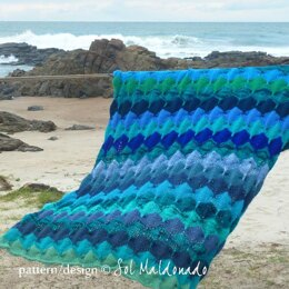 Mermaid Sea Knit Blanket afghan
