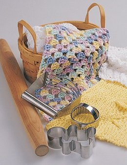 Pastel Granny Square Dishcloth in Lily Sugar 'n Cream Solids