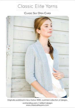 Open Cardi in Classic Elite Yarns Classic Silk - Downloadable PDF