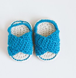 Crochet Baby Sandals - DAY AT THE BEACH