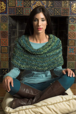 Shawl in Plymouth Yarn Spago and Worsted Merino Superwash - F537 - Downloadable PDF