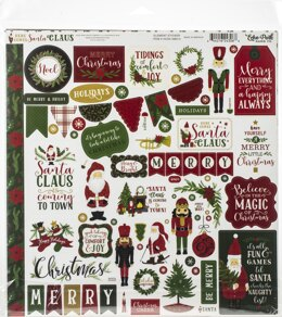 "Echo Park Paper Echo Park Collection Kit 12""X12"" - Here Comes Santa Claus"