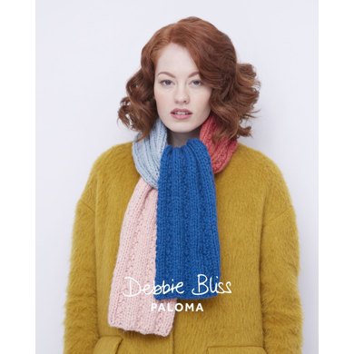 Colour Block Scarf in Debbie Bliss Paloma - DB050 - Leaflet