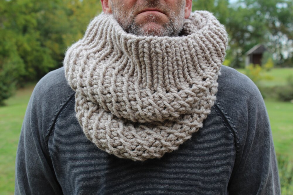 Men's Double Chunky Cowl Knitting pattern by anrol by ...