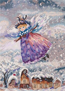 PANNA Winter Angel Cross Stitch Kit - 22.5cm x 31.5cm