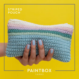 Striped Pouch in Paintbox Yarns 100% Wool Worsted - Downloadable PDF