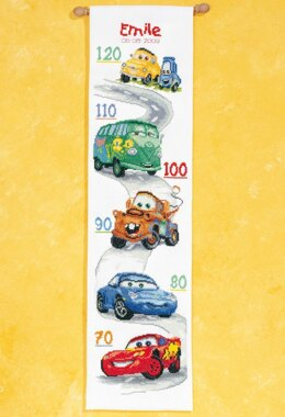 Vervaco Disney - Cars Height Chart Counted Cross Stitch Kit - 18cm x 70cm