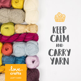 LoveCrafts eGift Card - Keep Calm and Carry Yarn