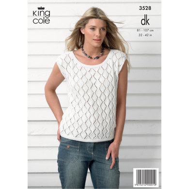 Ladies' Cardigan and Top in King Cole Smooth DK - 3528