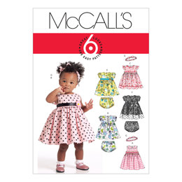 McCall's Infants' Lined Dresses, Panties and Headband M5791 - Sewing Pattern